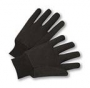 Brown Jersey Work gloves w/mini plastic dots