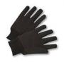 Brown Jersey Work gloves w/mini plastic dots